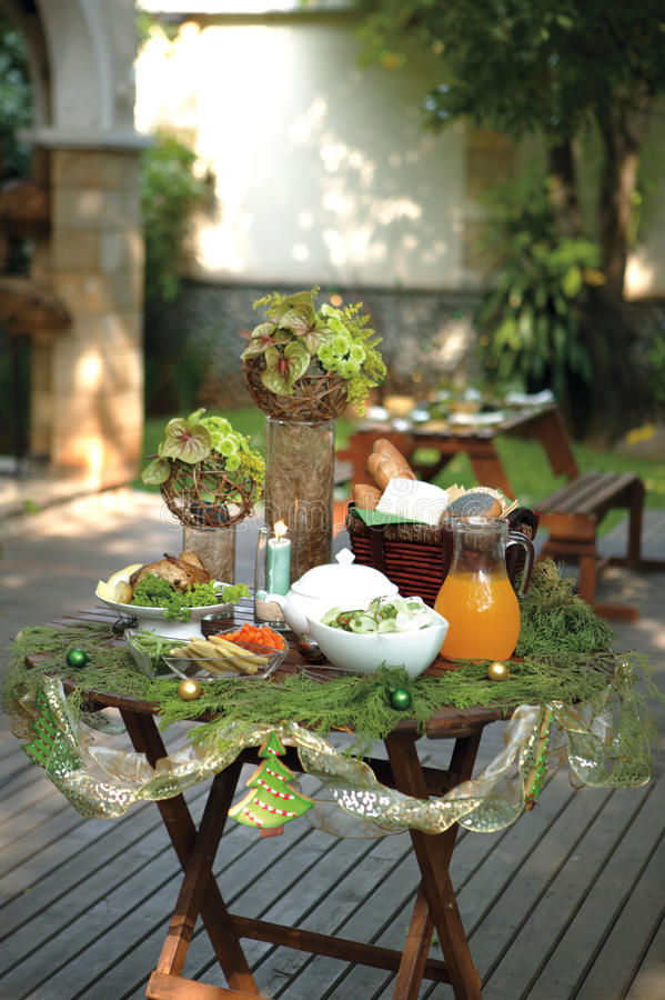 Download Christmas serving table stock photo. Image of arrangement - 17051276