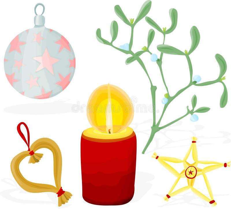 Download Christmas set 01 stock vector. Illustration of mistletoe - 15969382