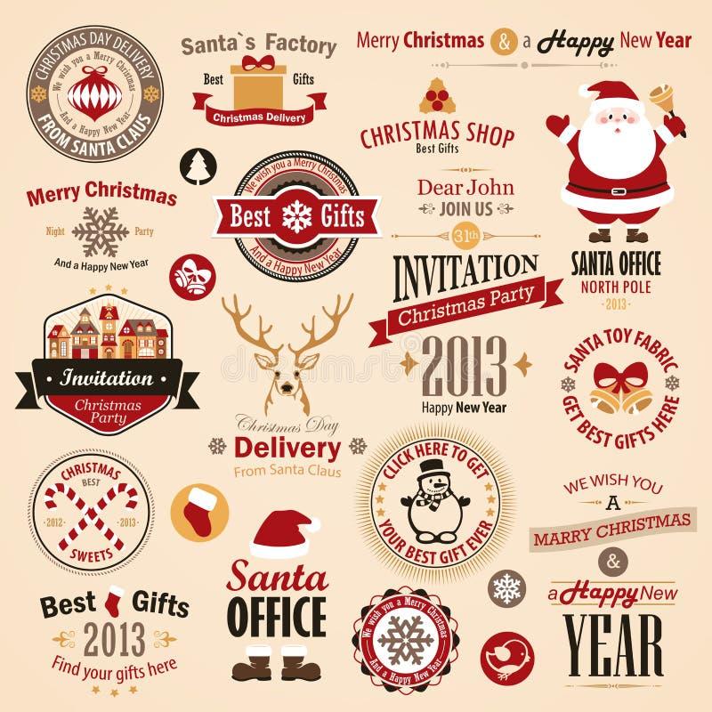 Christmas set royalty free illustration