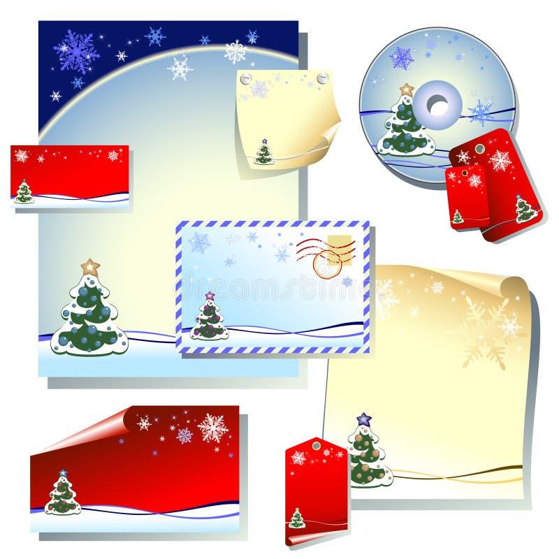 christmas set бесплатная иллюстрация