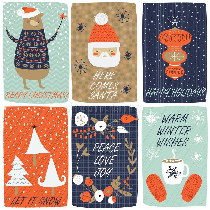 Christmas set stock illustration