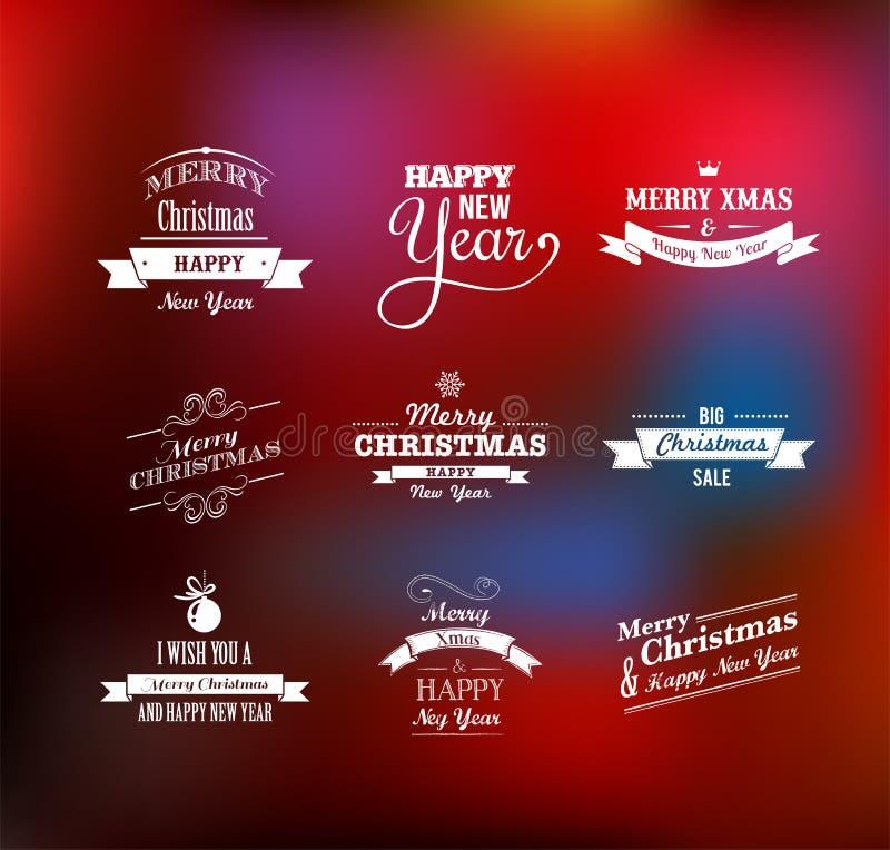 Download Christmas Set - Labels, Emblems And Elements Stock Vector - Illustration of holiday, emblem: 34035172