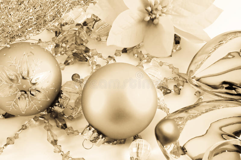 Christmas set of toys royalty free stock images