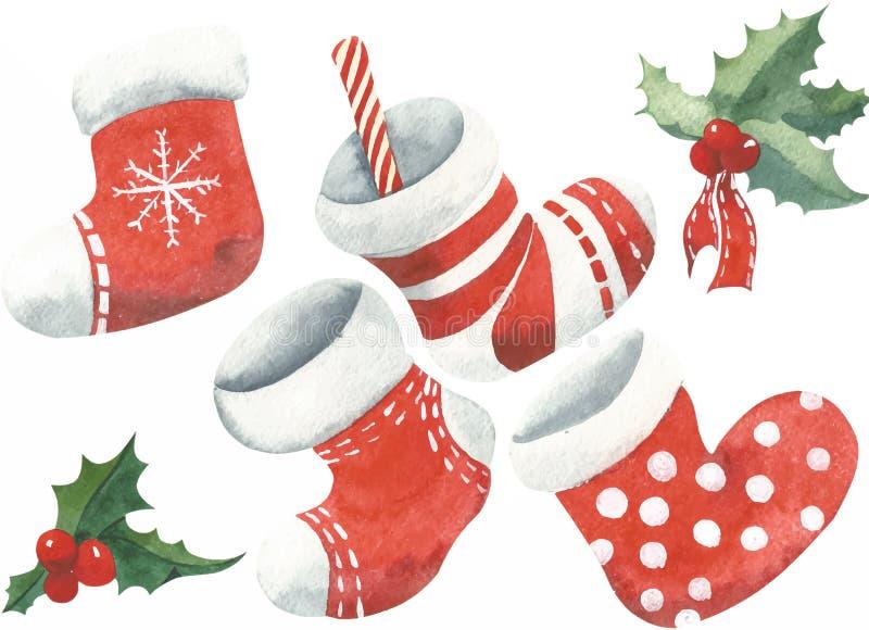 Christmas set vector royalty free illustration