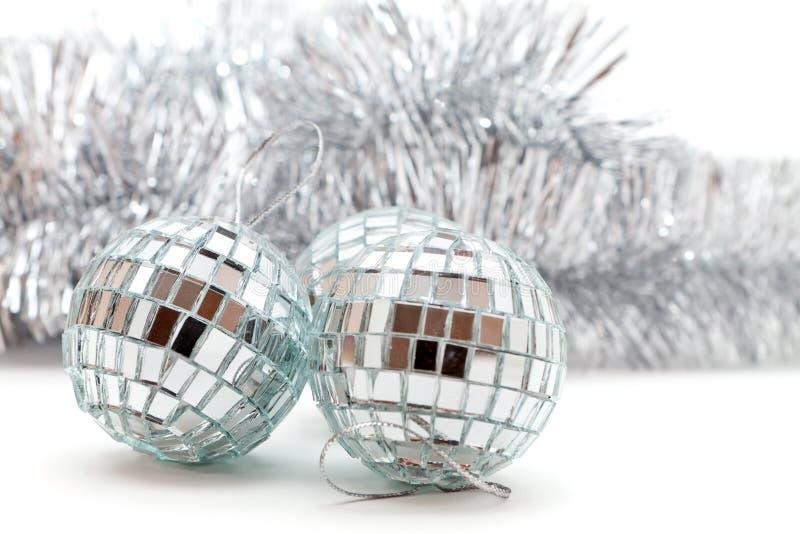 Christmas shiny balls and garlands