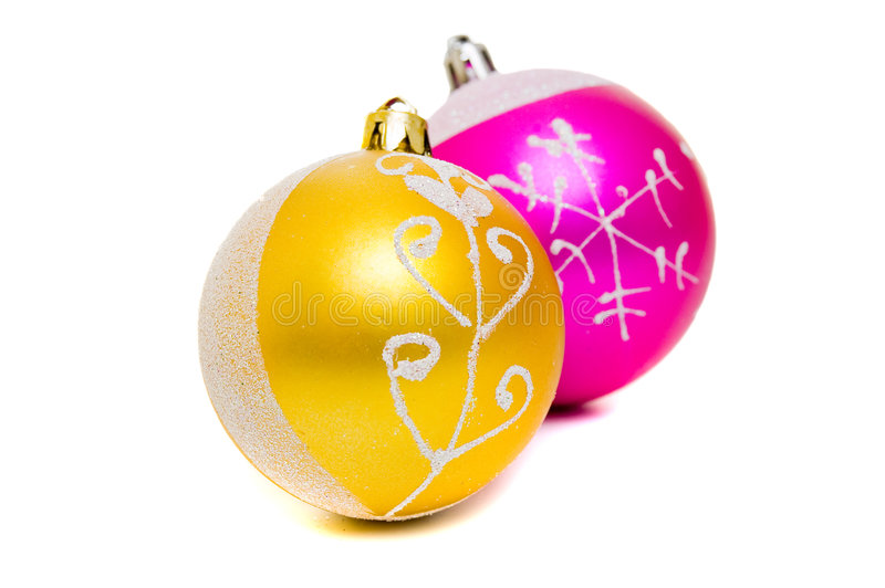 Download Christmas Shiny Balls Of Two Colors Stock Photo - Image: 6931208