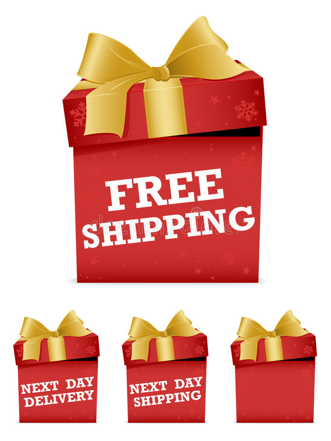 Free Christmas Shipping Icons Stock Photos - 22054853