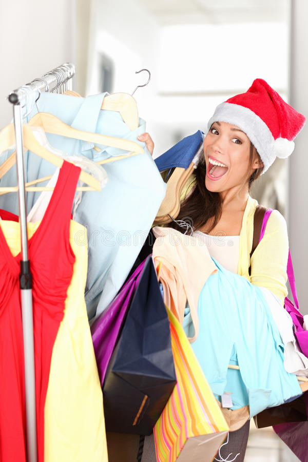 Download Christmas shopper excited stock image. Image of holding - 21806041
