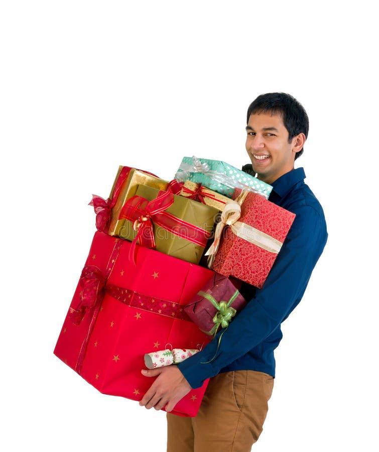 Christmas shopper stock photography