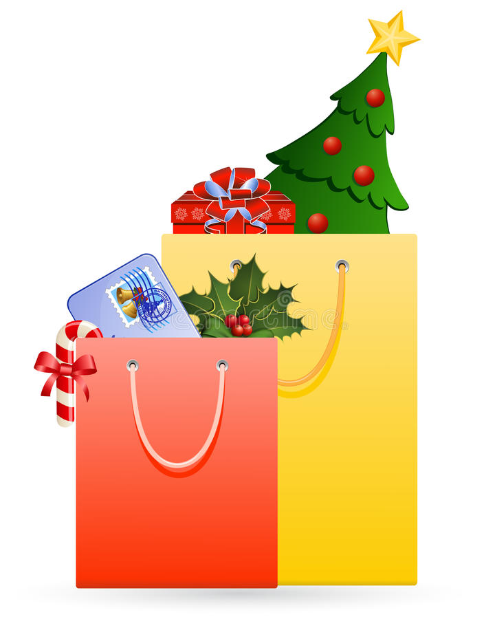 Download Christmas shopping stock vector. Illustration of icons - 12078630