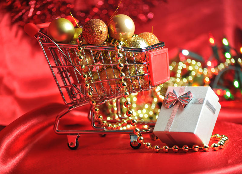 Download Christmas shopping stock photo. Image of decorations - 16789748