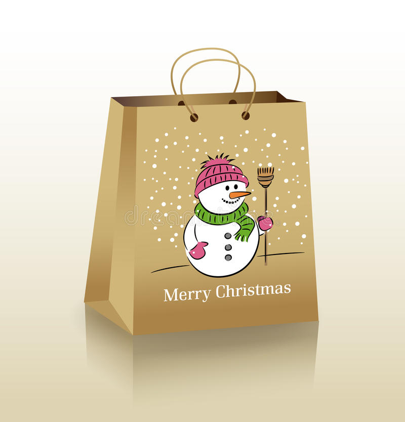 Download Christmas Shopping Bag stock vector. Illustration of christmas - 21861518
