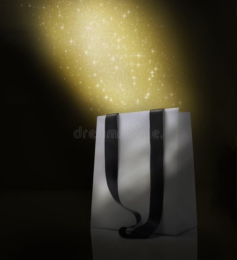 Christmas shopping bag fantasy stock photos