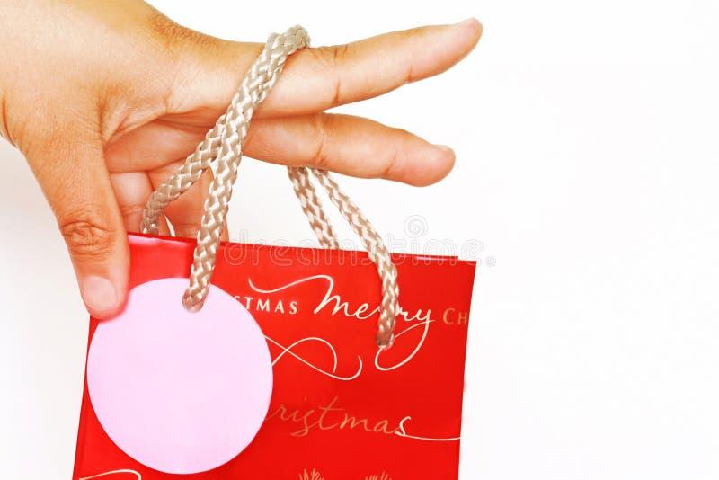 Download Christmas Shopping Bag Hand Held Stock Photography - Image: 5686832