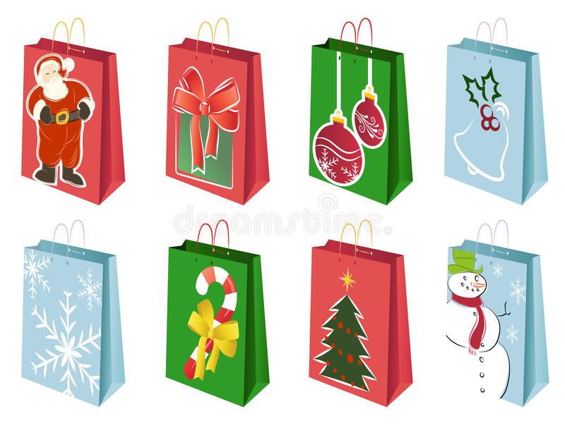 Download Christmas shopping bags stock illustration. Illustration of shop - 12080775