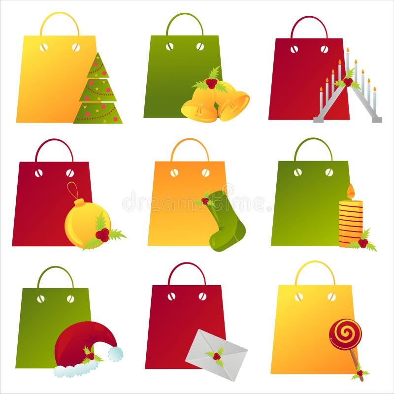 christmas shopping bags stock illustration