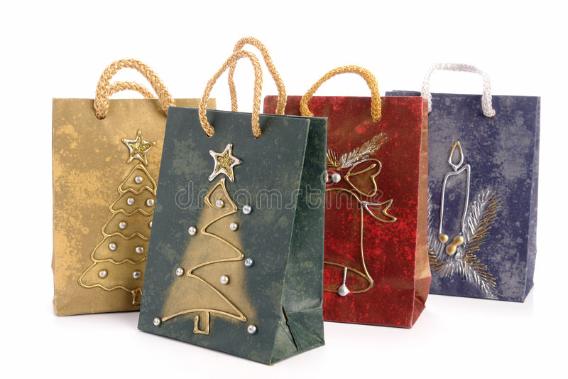 Christmas shopping bags royalty free stock photography