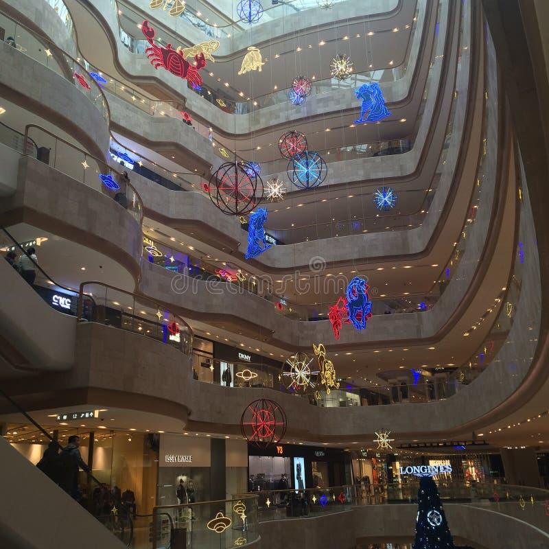 Christmas shopping center in Nanjing stock photography