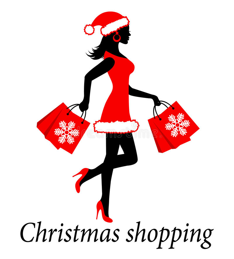 Download Christmas shopping stock illustration. Image of cute - 34274874