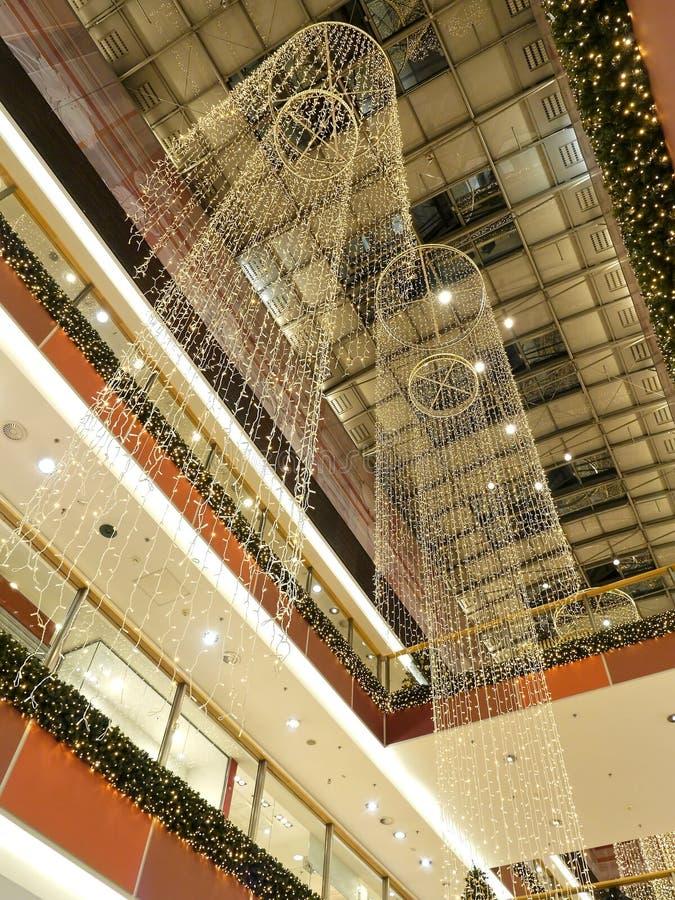 Christmas shopping mall stock photography