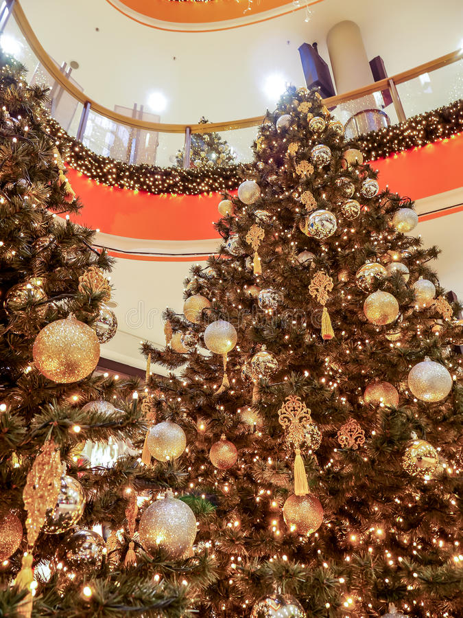 Christmas shopping mall royalty free stock photo