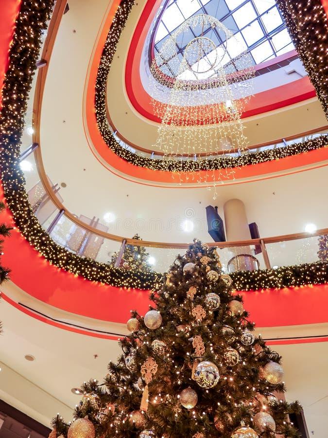 Christmas shopping mall royalty free stock image
