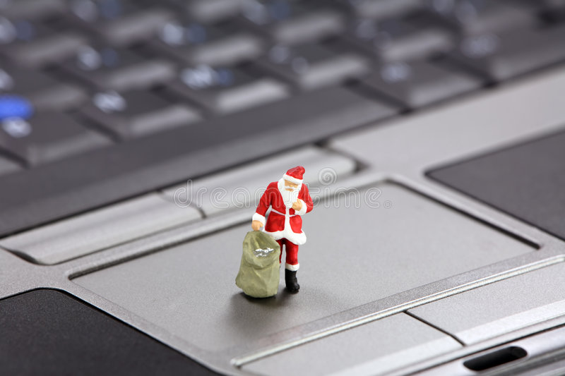 Download Christmas Shopping Online Concept Stock Photo - Image: 3382438