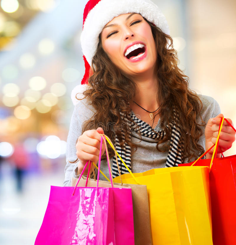 Christmas Shopping. Sales stock photo