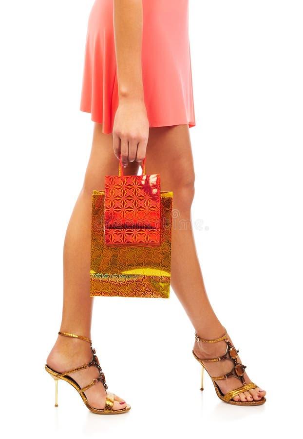 Download Christmas shopping woman stock image. Image of woman, shopping - 1283465