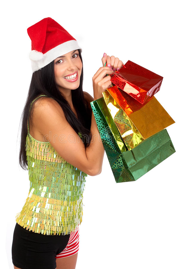 Download Christmas Shopping  woman stock photo. Image of business - 7139690