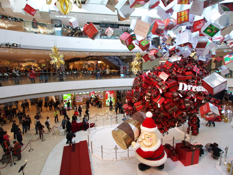 Download Christmas show in IFC Mall editorial photo. Image of stores - 22648746