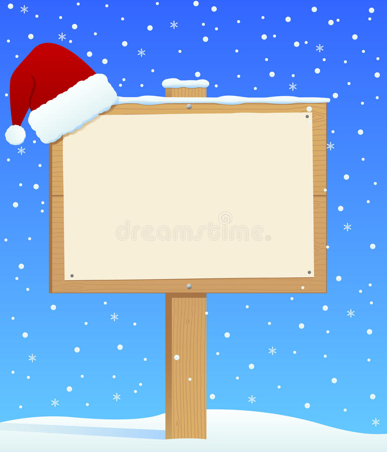 Christmas Sign royalty free illustration