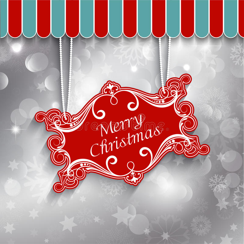 Christmas sign background stock illustration