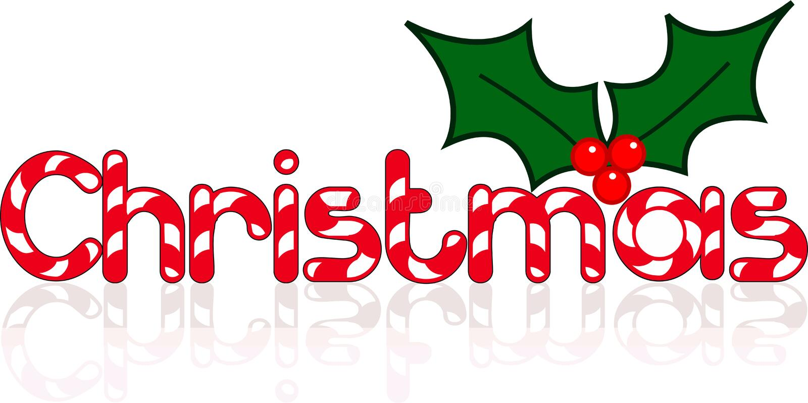 Christmas Sign with berries vector. Logo vector illustration