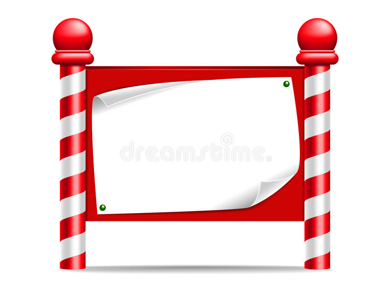 Christmas Sign. A festive looking sign / notice board vector illustration