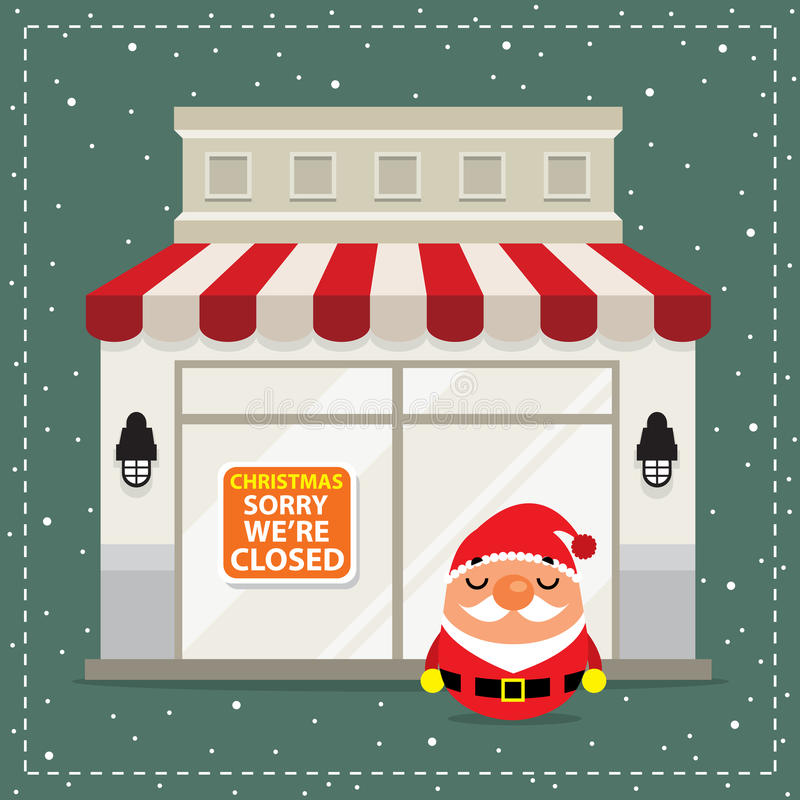 Christmas Signboard Closed stock illustration