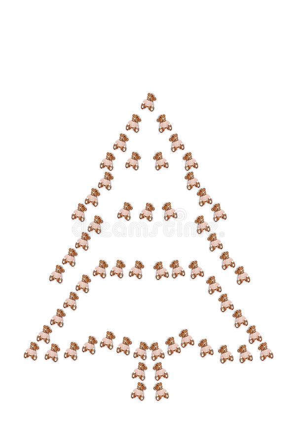 Christmas silhouette stock image