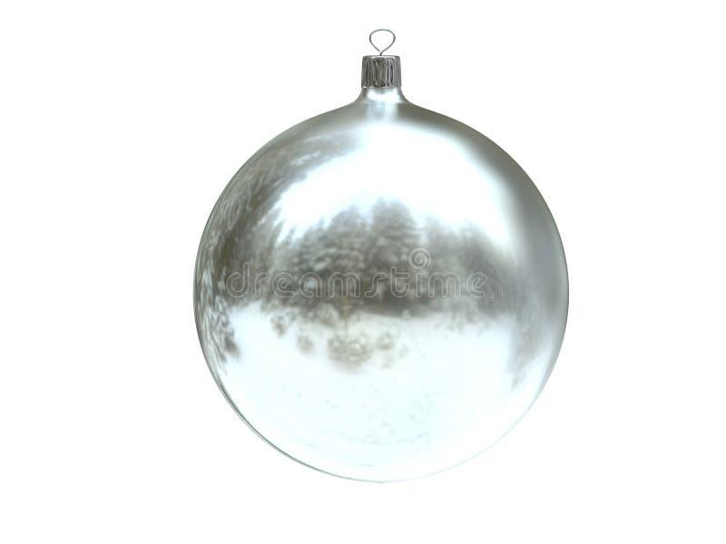 Christmas silver ball stock photo