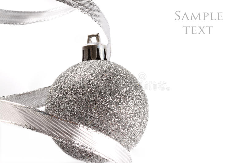 Christmas Silver Balls Royalty Free Stock Images