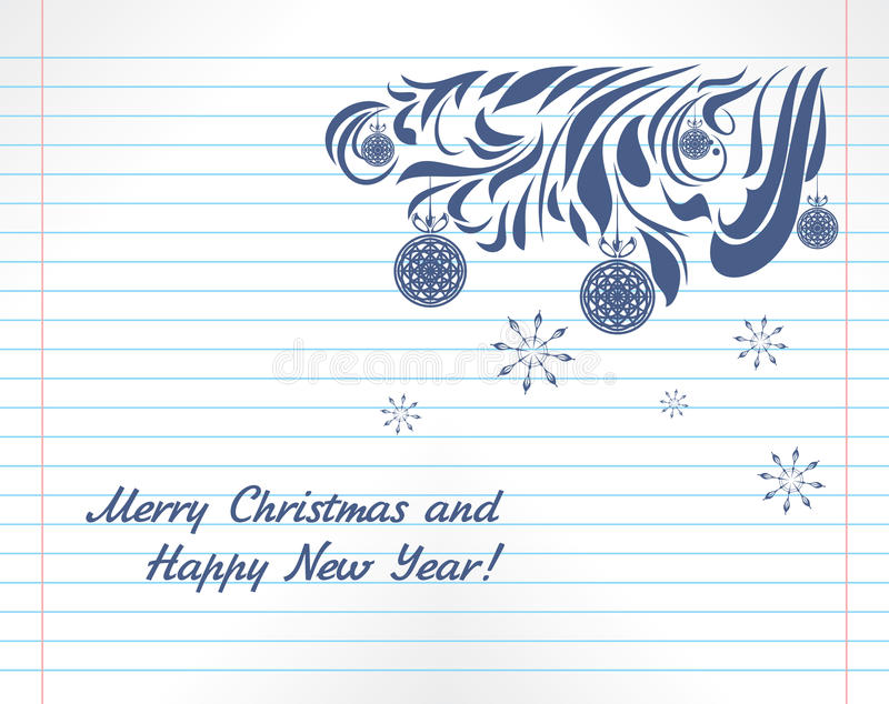 Notebook And Pen Sketch Stock Vector Art More Images Of: Christmas Sketch On The Notebook Page Royalty Free Stock