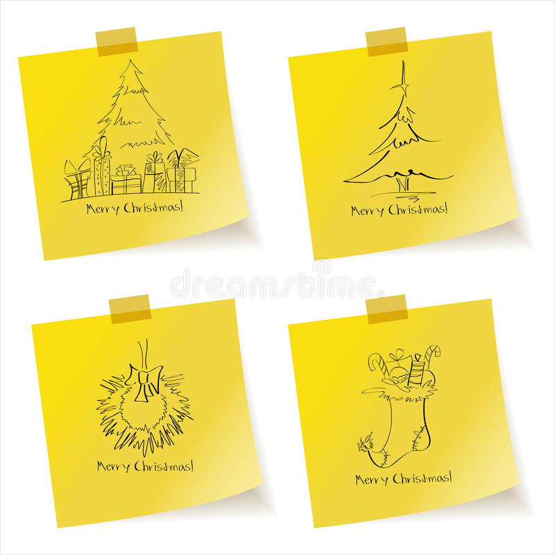 Download Christmas sketches stock vector. Illustration of color - 21800249