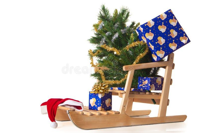 Download Christmas sled stock photo. Image of toboggan, decoration - 12186800