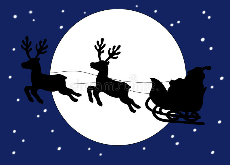 Download Christmas. The sleigh stock illustration. Illustration of gifts - 12113746