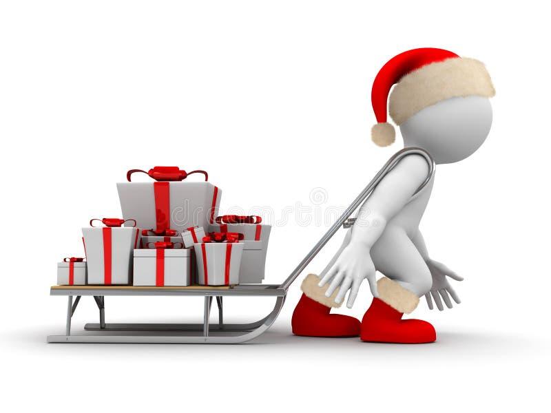 Christmas sleigh stock illustration