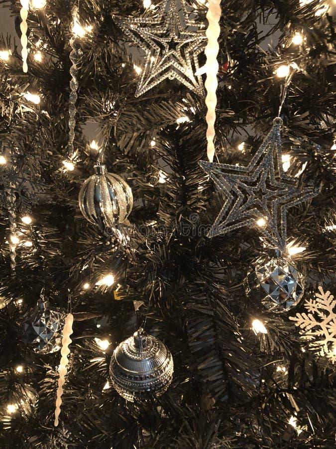 Christmas Sliver Tree stock photos