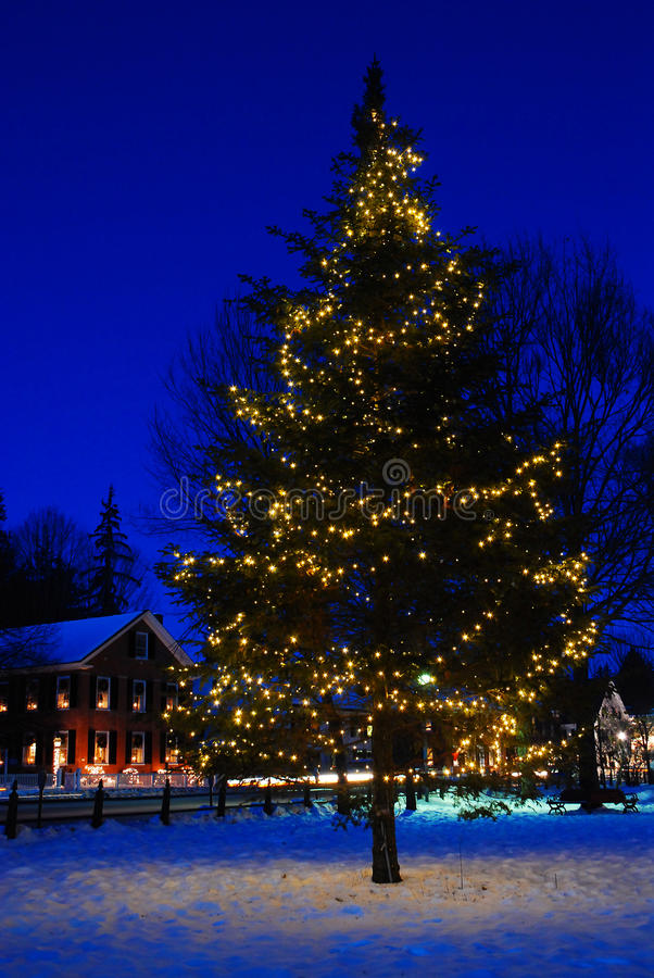 Christmas in a Small Town stock photo. Image of landmark ...