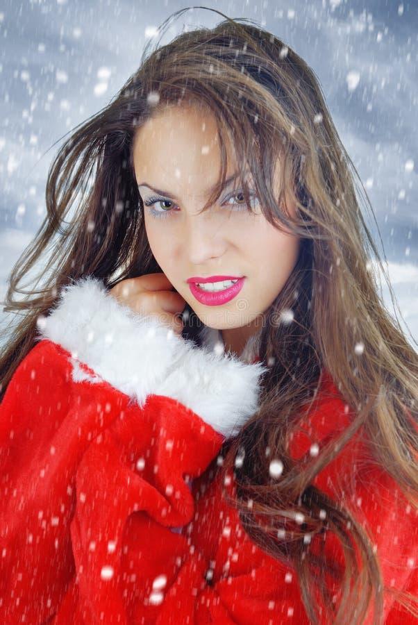 Christmas snow stock photo
