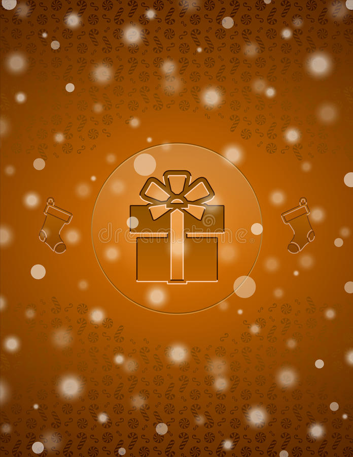 Download Christmas Snow Background With Gift And Christmas Stock Vector - Image: 27140766