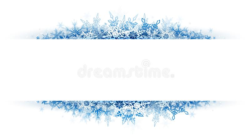 Christmas snow banner stock illustration