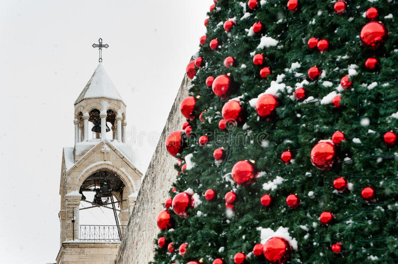 Download Christmas Snow In Bethlehem Stock Image - Image: 28581795